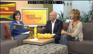 Anne Laing & Tim Bean of The Hard Edge at The Good Morning Show